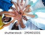 creative team putting their... | Shutterstock . vector #290401031