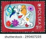 poland   circa 1978  a stamp... | Shutterstock . vector #290407235