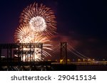 fireworks at san francisco... | Shutterstock . vector #290415134
