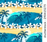 tropical surfing with palm... | Shutterstock .eps vector #290415275