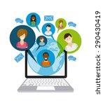 social media design  vector... | Shutterstock .eps vector #290430419