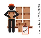 delivery service design  vector ... | Shutterstock .eps vector #290430839