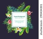 tropical plants. vector... | Shutterstock .eps vector #290434301