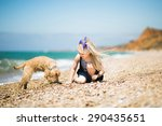 little girl with blond hair...   Shutterstock . vector #290435651