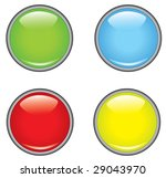 a collection of four glossy... | Shutterstock .eps vector #29043970