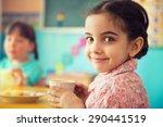 cute little hispanic girl... | Shutterstock . vector #290441519