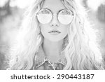 fashion portrait of young... | Shutterstock . vector #290443187