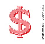 dollar sign icon. usd currency... | Shutterstock .eps vector #290443211