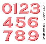 vintage numbers set   Shutterstock .eps vector #290443214