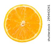 slice of orange fruit isolated... | Shutterstock . vector #290443241
