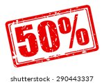 50 percent red stamp text on... | Shutterstock .eps vector #290443337