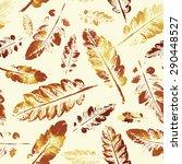 autumn pattern.  beautiful... | Shutterstock .eps vector #290448527