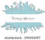 vintage paper doodle banner on... | Shutterstock .eps vector #290452097