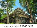 ko ker pyramid of cambodia   Shutterstock . vector #290452499