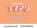 3 dimensional typography... | Shutterstock .eps vector #290458805