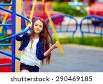 Beautiful teen girl on...