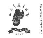 barber shop. trendy elements... | Shutterstock .eps vector #290469659