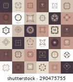set of vintage frames for... | Shutterstock .eps vector #290475755