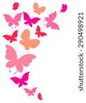 butterflies design | Shutterstock . vector #290498921