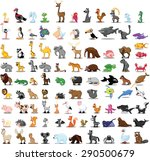 Stock vector set of cute cartoon animals 290500679