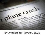 plane crash written newspaper ... | Shutterstock . vector #290501621