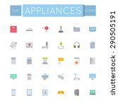 vector flat appliances icons | Shutterstock .eps vector #290505191