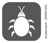 the beetle and bug icon. acarid ... | Shutterstock .eps vector #290507291