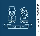 toilet icon with outline style... | Shutterstock .eps vector #290507555