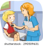 illustration of a little boy... | Shutterstock .eps vector #290509631