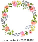 card template with watercolor... | Shutterstock . vector #290510435