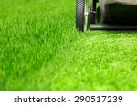lawn mower on green lawn | Shutterstock . vector #290517239