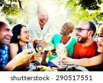 friends friendship outdoor... | Shutterstock . vector #290517551
