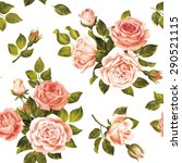 seamless delicate pattern with... | Shutterstock .eps vector #290521115