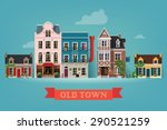 lovely detailed vector old town ... | Shutterstock .eps vector #290521259