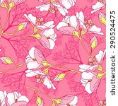 seamless floral pattern... | Shutterstock .eps vector #290524475