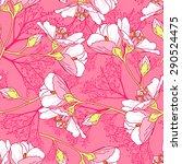 seamless floral pattern... | Shutterstock .eps vector #290524475