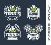 set of tennis badge logo... | Shutterstock .eps vector #290529134