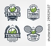 set of tennis badge logo... | Shutterstock .eps vector #290529137