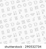 seamless pattern of kitchen... | Shutterstock .eps vector #290532734