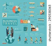 infographics of business travel ... | Shutterstock .eps vector #290538365