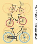 set of retro bicycles with... | Shutterstock .eps vector #290538767