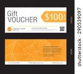 gift voucher template   Shutterstock .eps vector #290539097