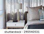 stylish bedroom interior design ...   Shutterstock . vector #290540531