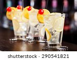 four tom collins cocktails shot ... | Shutterstock . vector #290541821