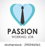 passion tie business office... | Shutterstock .eps vector #290546561