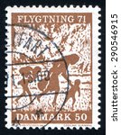 denmark   circa 1971  stamp...   Shutterstock . vector #290546915