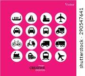 transport icons.transportation .... | Shutterstock .eps vector #290547641
