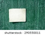 white rusty grungy old sign on... | Shutterstock . vector #290550011