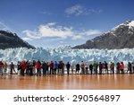 cruise passengers watching... | Shutterstock . vector #290564897