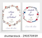 set of wedding cards. contain... | Shutterstock .eps vector #290570939